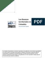 Las Finanzas Territoriales en Colombia J G Zapata Mayo 2010