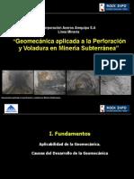 Geomecánica y minería subterránea
