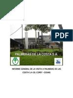 Informe General de La Visita a Palmeras de Las Costa s