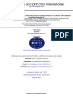2013 -Ultrasonographic Measurement of the Distal Femoral Cartilage Thickness in Patients With Unilateral Transtibial Amputation - Prosthetics and Orthotics International
