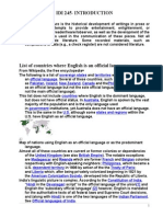 LITERATURE OF ENGLISH SPEAKING COUNTRIES