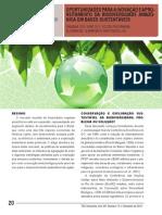 OPORTUNIDADES PARA A INOVAÇÃO E APROVEITAMENTO DA BIODIVERSIDADE AMAZÔNICA EM BASES SUSTENTÁVEIS