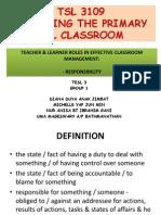 Responsibility of Teachers