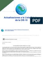 Actualizaciones Al Vol 1 CIE10