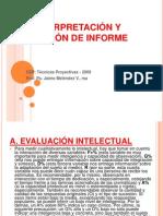 Interpretación y redacción del informe