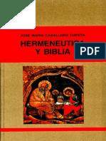 Hermenéutica y Biblia - José María Caballero