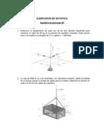 Ejercicios de Equilibrio de Particulas 3D