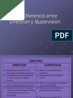 Diferencia de Direccion y Supervision