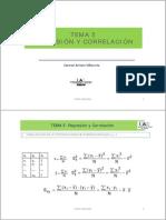 Tema 5 Regresion y Correlacion