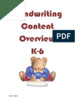 K-6 Handwriting Content-s Tooney