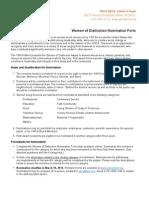 WOD Nomination Form 2014