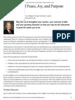 Richard G. Scott - Living a Life of Peace, Joy, And Purpose - Ensign Feb 2014