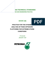 Practice for Dynamic Analysis of Fixed Offshore Platform- Petronas Technical Standards
