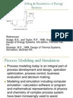Energy Process Modeling Simulation