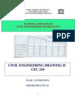 Cec 210-Civil Engineering Drawing II