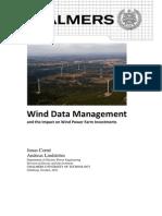 Wind Data Management