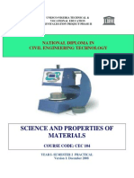 Cec 104 Prac-material Properties Of