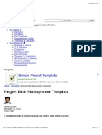 Project Risk Management Template