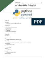 Non-Programmer's Tutorial for Python 2.0
