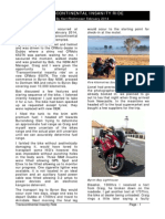Ride Report Transcontinental Insanity Feb 2014