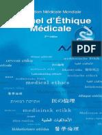 Manuel d'éthique medicale Deuxieme Edition