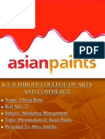 Presentation on Asian Paints