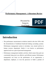 Performance Management a Literature Review