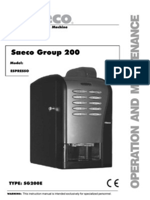 Manual Saeco Group 200 | Ac Power Plugs And Sockets | Mains