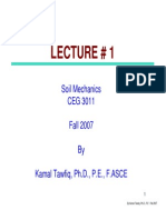 First Lecture