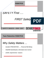FIRST Robotics-Safety Basics
