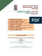 LAMPEA-Doc 2009 – numéro 33 / Vendredi 9 octobre 2009