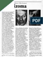 Deleuze, Gilles y Guattari, Felix - RIzoma [Trad. de Coral Bracho. Revista de La Universidad, 1977]