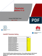 3G Huawei New Sites Parameter Setting Guideline V1 0