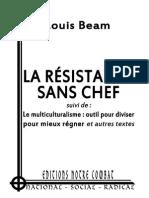Beam Louis, Résistance et Principes et Multiculturalisme et Règles 2