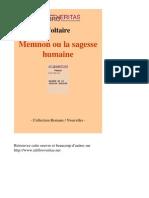 VOLTAIRE-Memnon Ou La Sagesse Humaine