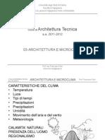 03-At Archiettura e Microclima 12-13 - Corso Architettura Tecnica
