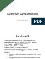 Algoritmos Computacionais Trabalho Ap1