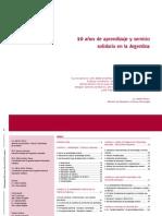 10 años de aprendizaje servicio en la Argentina