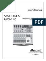 Alto Amx-140fx - User's Manual