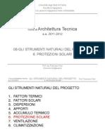 08-AT_Gli Strumenti Naturali Del Progetto - Protezioni Solari_12-13 - Corso Architettura Tecnica