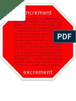 State Dept STOP Incremental Excrement