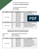 Edaran Lampiran Jadual Temuduga Dari 3 -8 Mac 2014