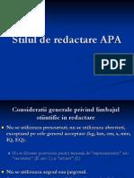 Stil de Redactare APA