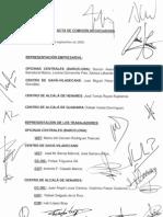 Acta de la 1ª ronda de reuniones sobre el ERE definitivo en Roca