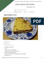 Empadão com massa de ricota - Dieta Dukan Receitas - Dietas, receitas e um grupo de apoio, para você emagrecer e conquistar o seu peso ideal