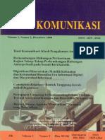 Jurnal Ilmu Komunikasi Vol 1 No 2 Desember 2004