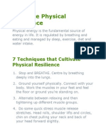 Cultivate Physical Resilience