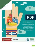 Informe Ejecutivo II Encuesta Nacional de Condiciones De