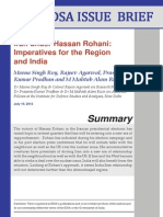 Hassan Rohani and India - Iran Relations