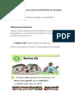 PLANEACIÓN DE UNA CLASE DE MATEMÁTICAS DE 1ER GRADO